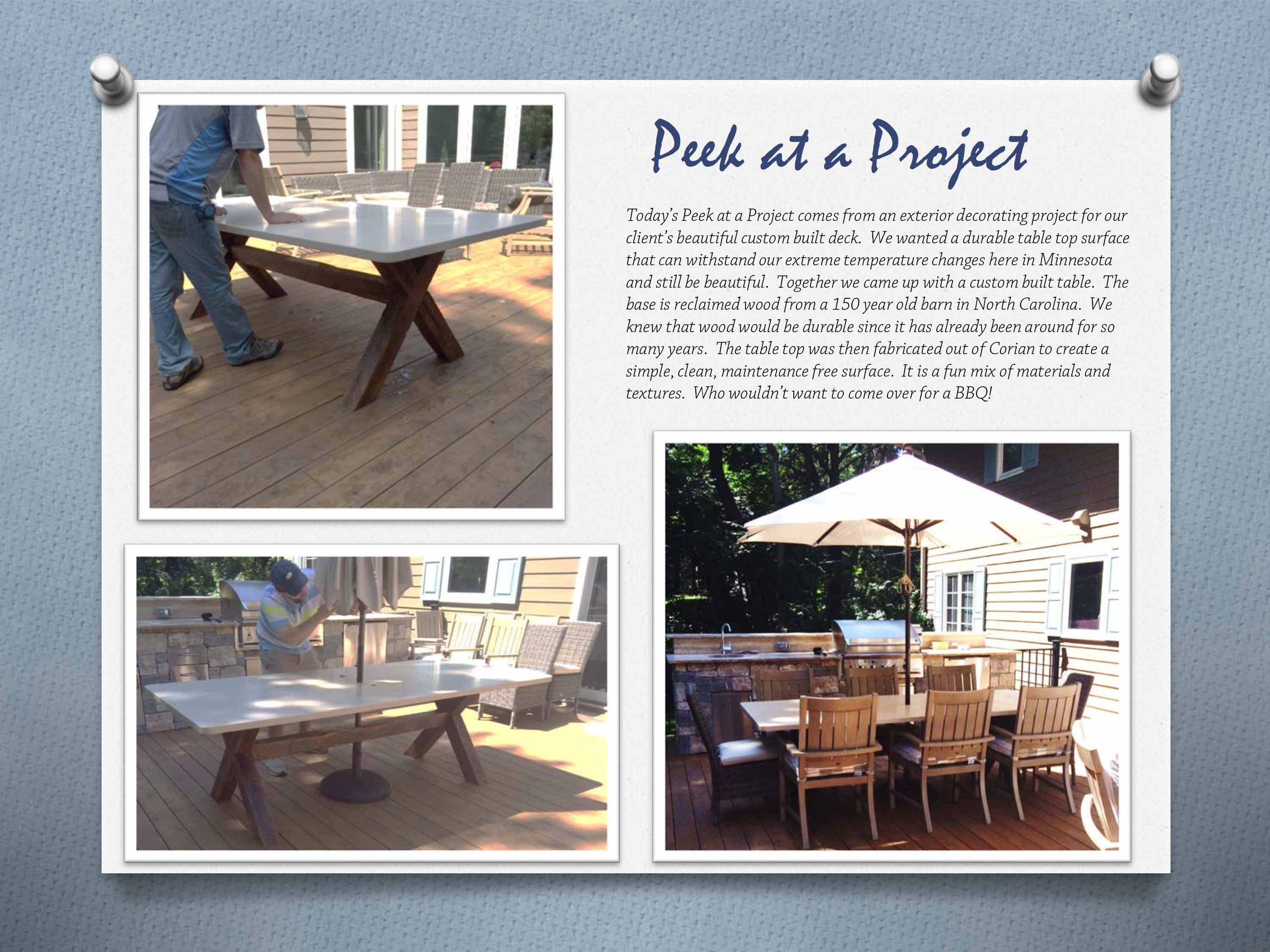 exterior design custom dining table