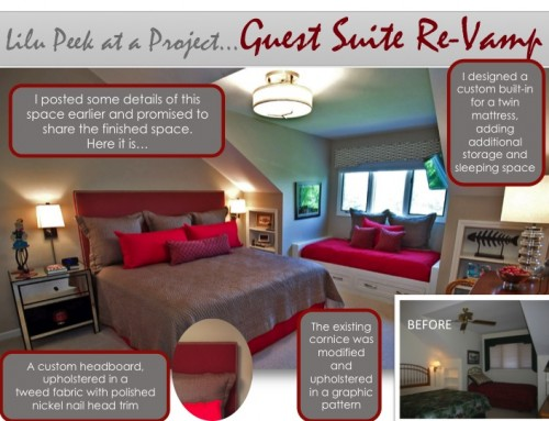 Monday's Peek at a LiLu Project: Guest Suite Re-Vamp