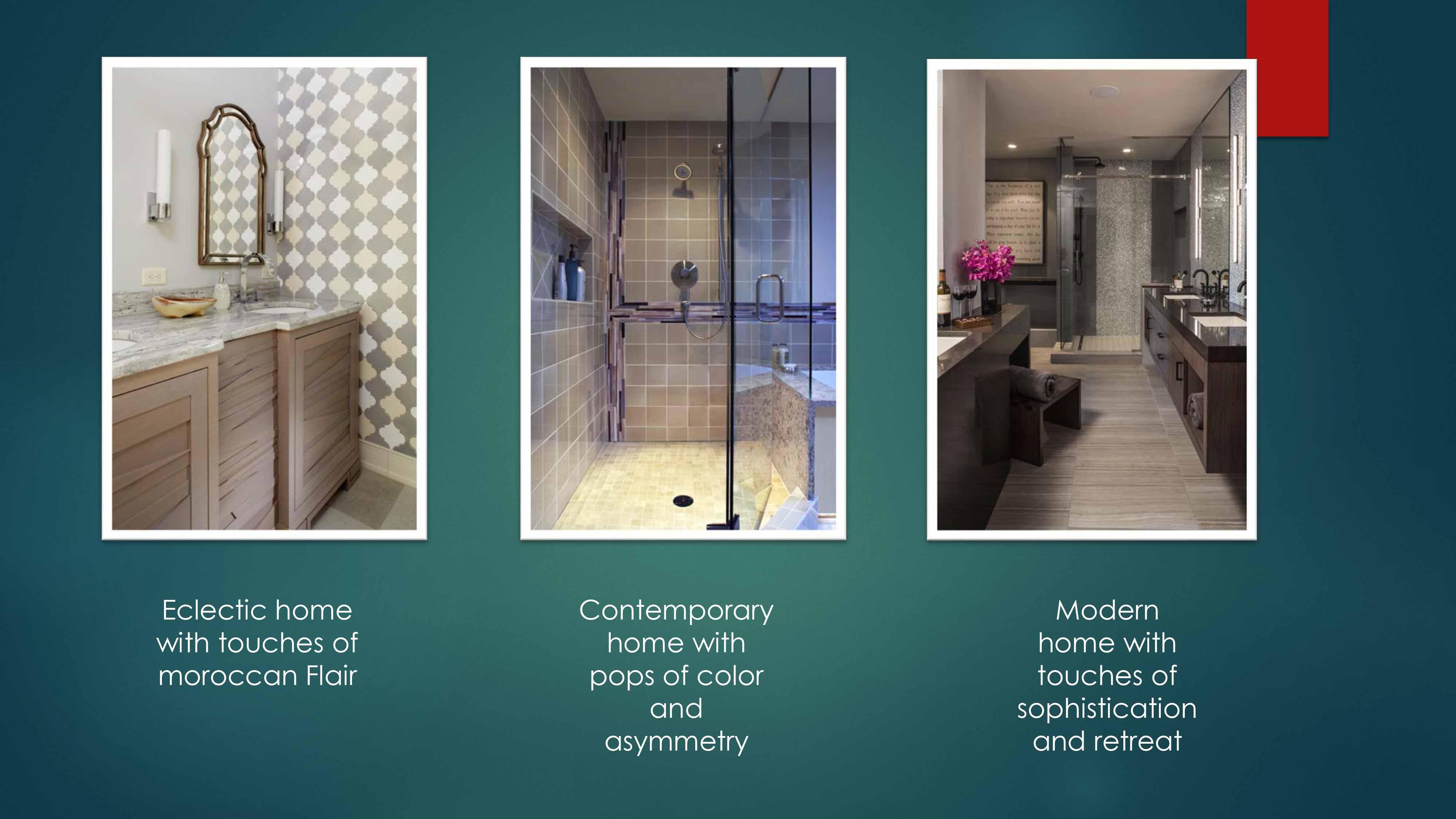 Unique Bathroom Tile Installations - Lilu Interiors