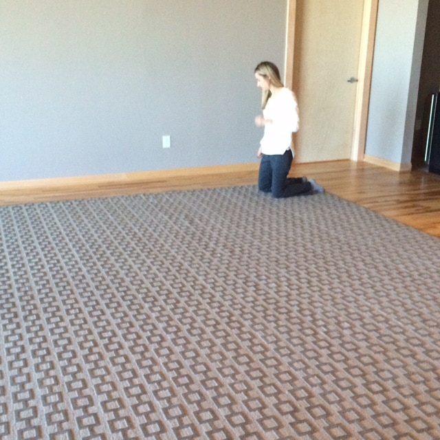 Condo Fabulous rug being installed