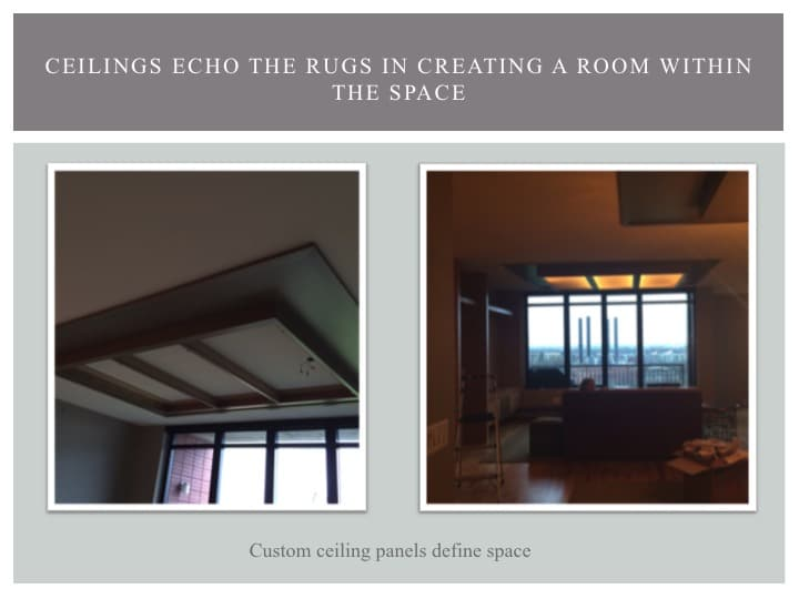 ceilings in a condo designe by LiLu Interiors in Minneapolis
