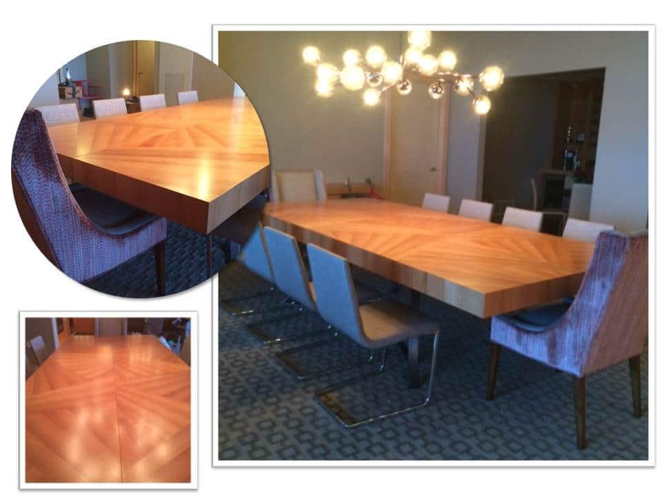 Quartered Cherry Modern Dining Table