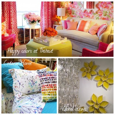 colorful rooms at High Point Spring 2016 by LiLu Interiors