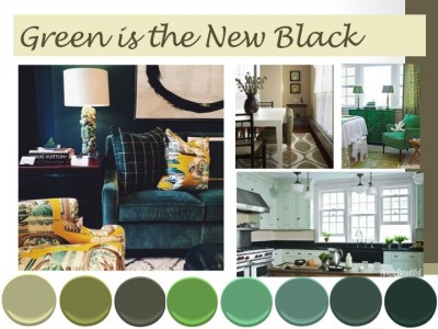 Interior Design Trend Green is the New Black