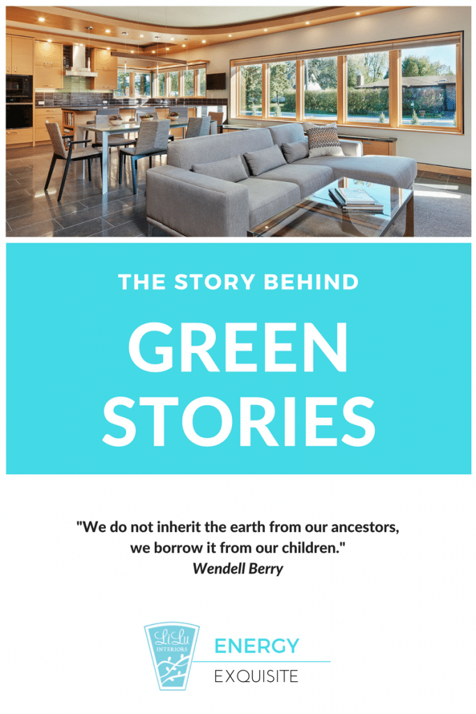 Green Design Stories family room energy exquisite by LiLu Interiors