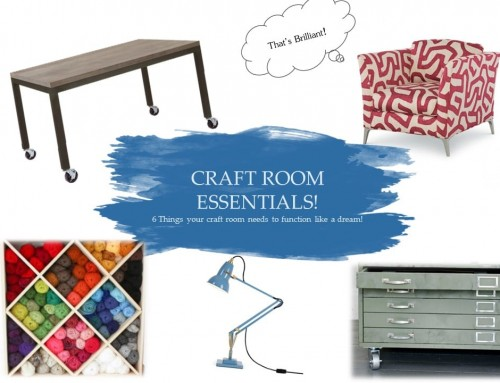 CRAFT ROOM ESSENTIALS!: 6 things your craft room needs