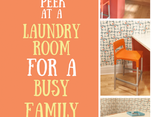 Laundry Room Design for a Busy Family – Peek at a LiLu Project
