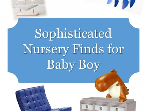 Sophisticated Nursery Finds for Your New Man
