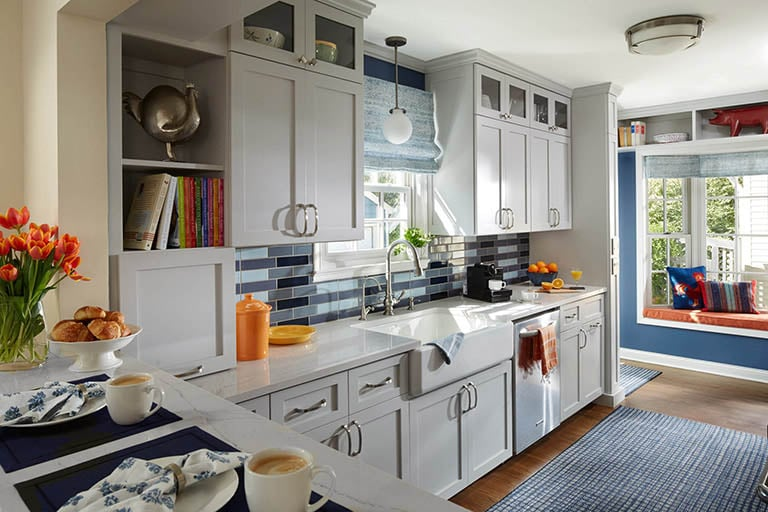 St. Paul traditional grey kitchen cabinetry
