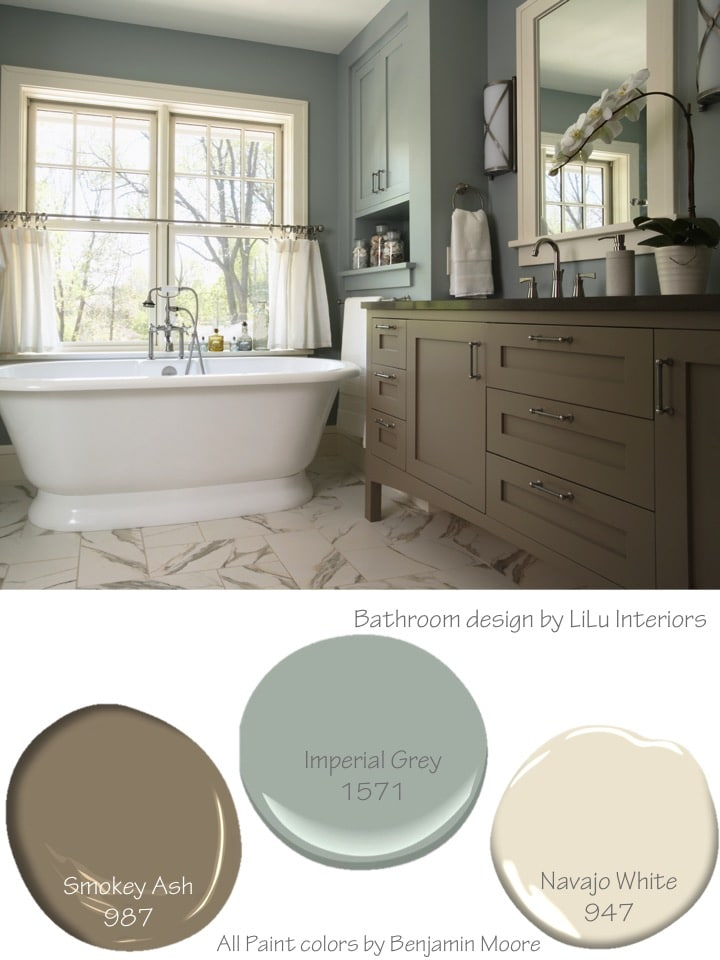 How to create a soothing color palette with inspirational designer rooms and paint color numbers CLICK TO READ MORE #interiordesign #interiordesigner #colorpalette #colorscheme #serene #soothing #interiorcolorschemes #interiorcolorpalette #slateblue #neutralcolor #softcolor #serenecolor #calmingcolor