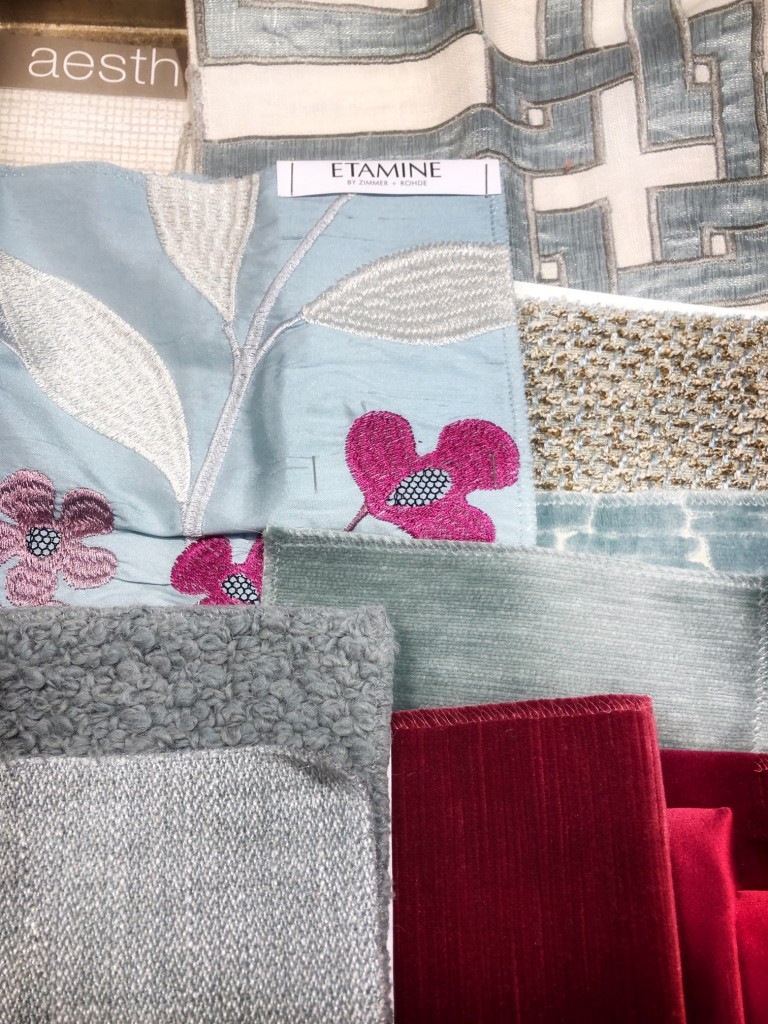 Lovely Living Room Schemes blues and pinks
