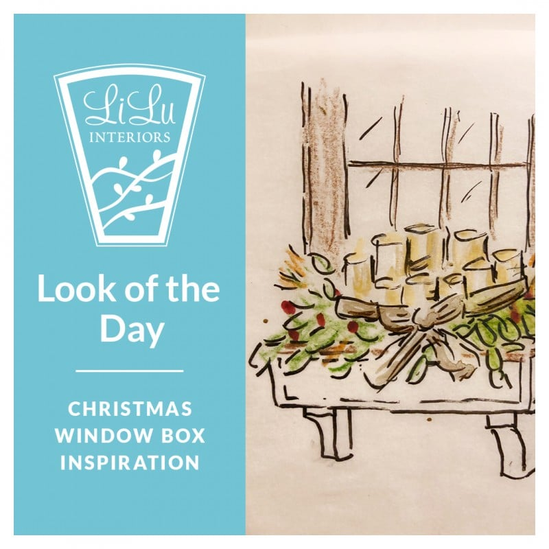 Christmas Window Box Inspiration Sketc
