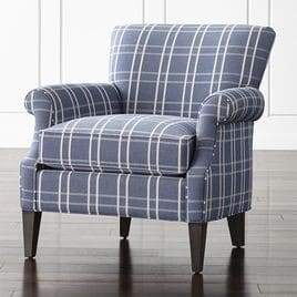 Plaid chair by Crate and Barrel
