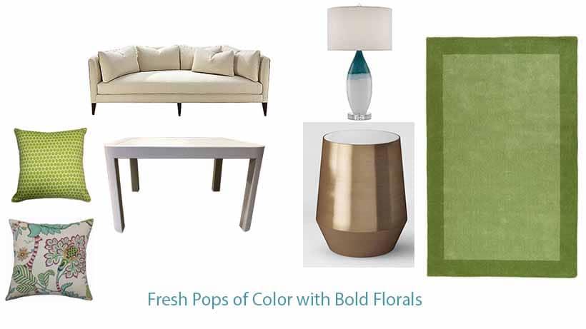 Fresh Pops of color bold florals minneapolis interior designer