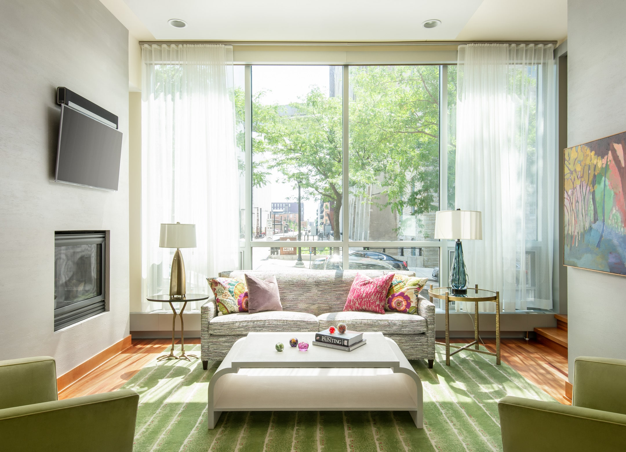 Fresh Pops of Color and Bold Florals Minneapolis Interior Designer