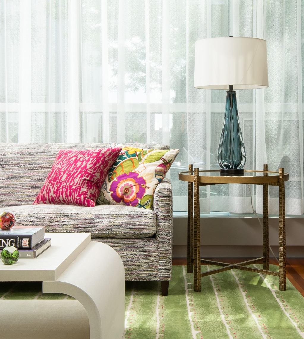 Look of Day Fresh Pops of Color and Bold Florals Minneapolis Interior Designer