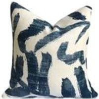 modern blue Accent pillow