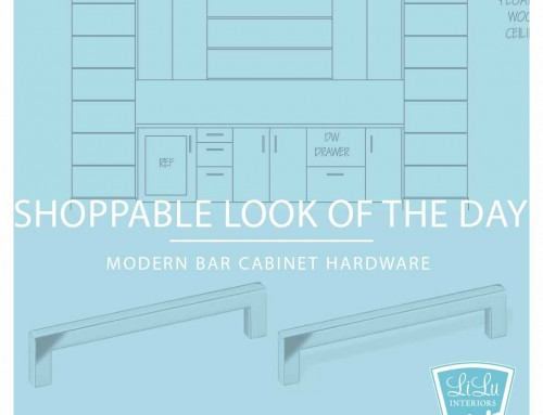 Modern Bar Cabinet Hardware: LiLu's Shoppable Look of the Day