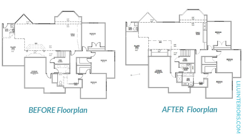 space plan before and after North Oaks 55127
