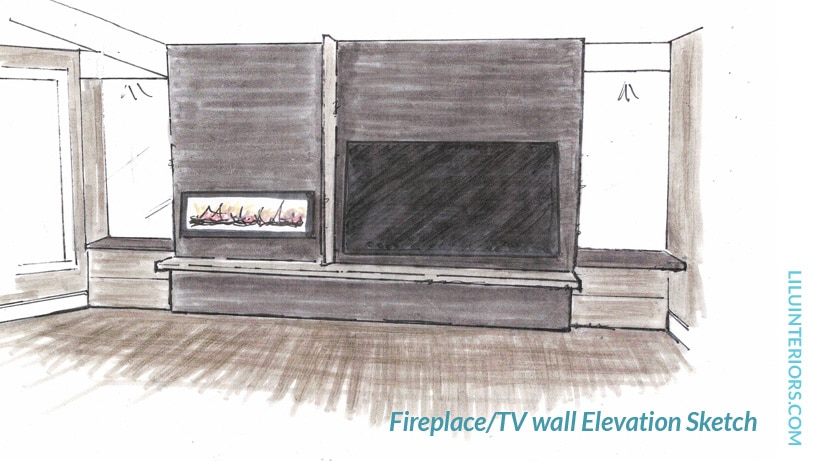 Fireplace design interior designer North Oaks 55127