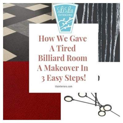 Billiard Room Design Makeover