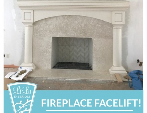 Fireplace Facelift- Peek at a Project