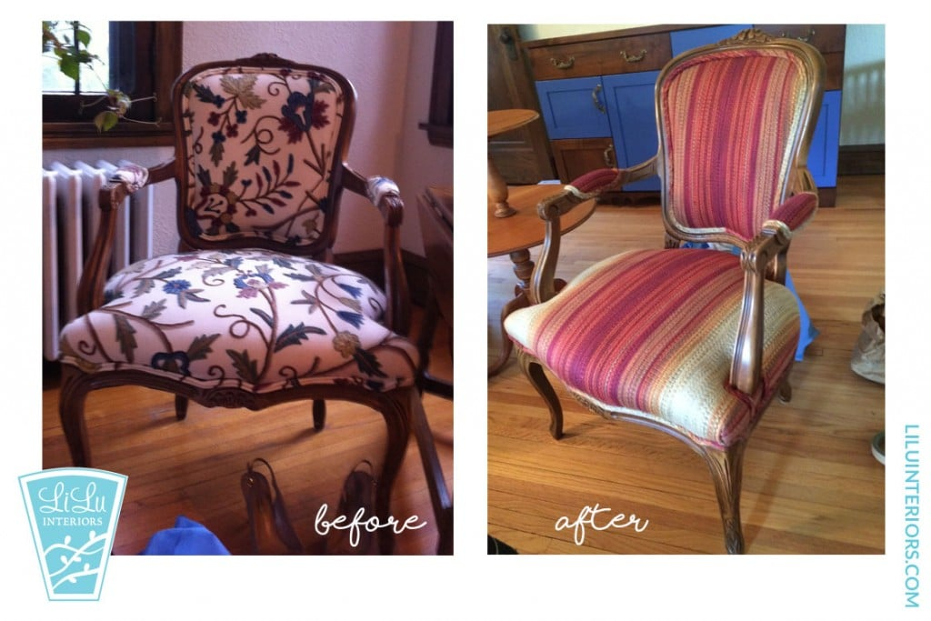 chair reupholstery before & after