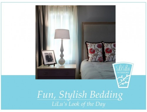 Fun, Stylish Bedding – LiLu's Look of the Day