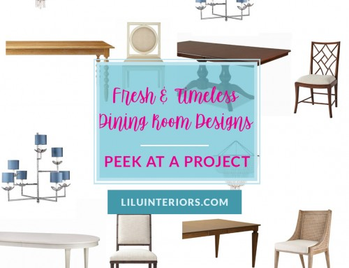Fresh & Timeless Dining Room Designs!