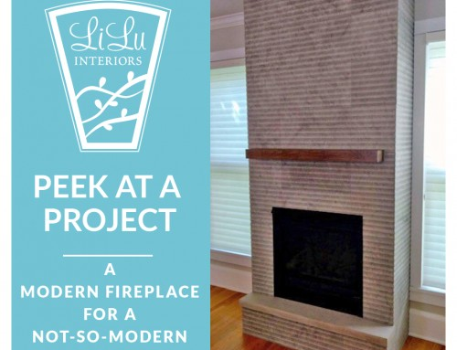 A Modern Fireplace for a Not-So-Modern Home