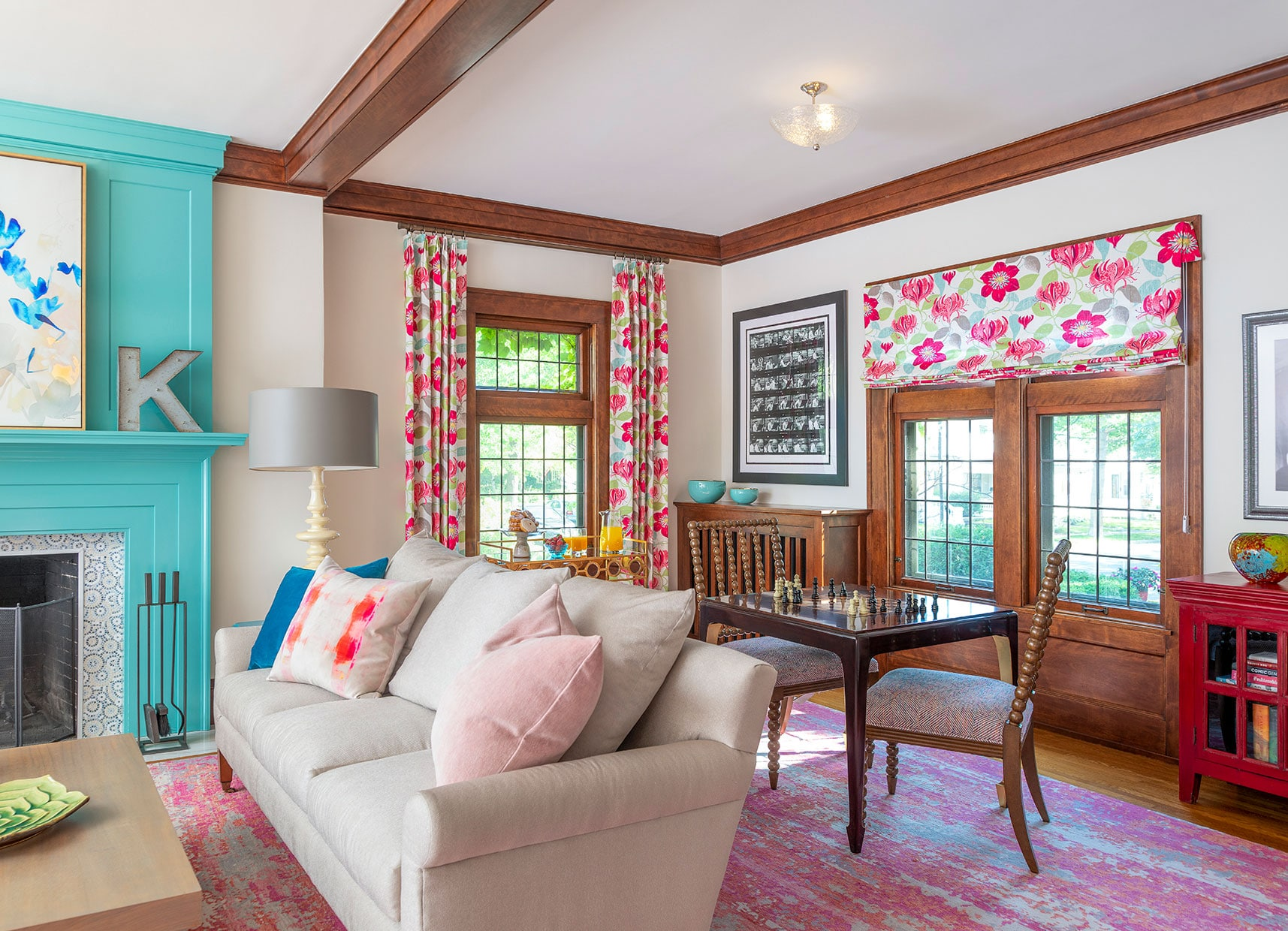 Brilliant custom living room pink