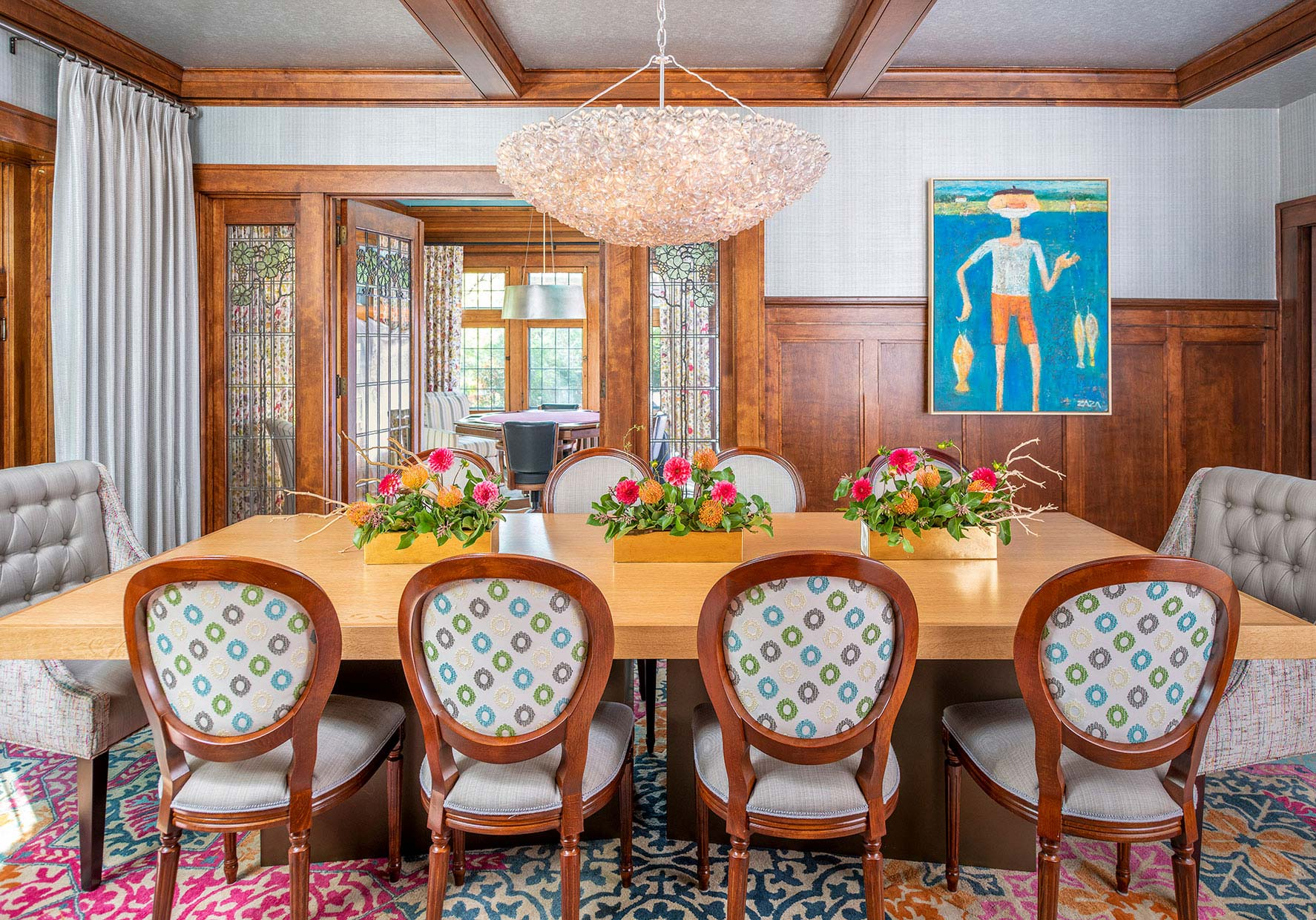 Distinctive luxury dining room