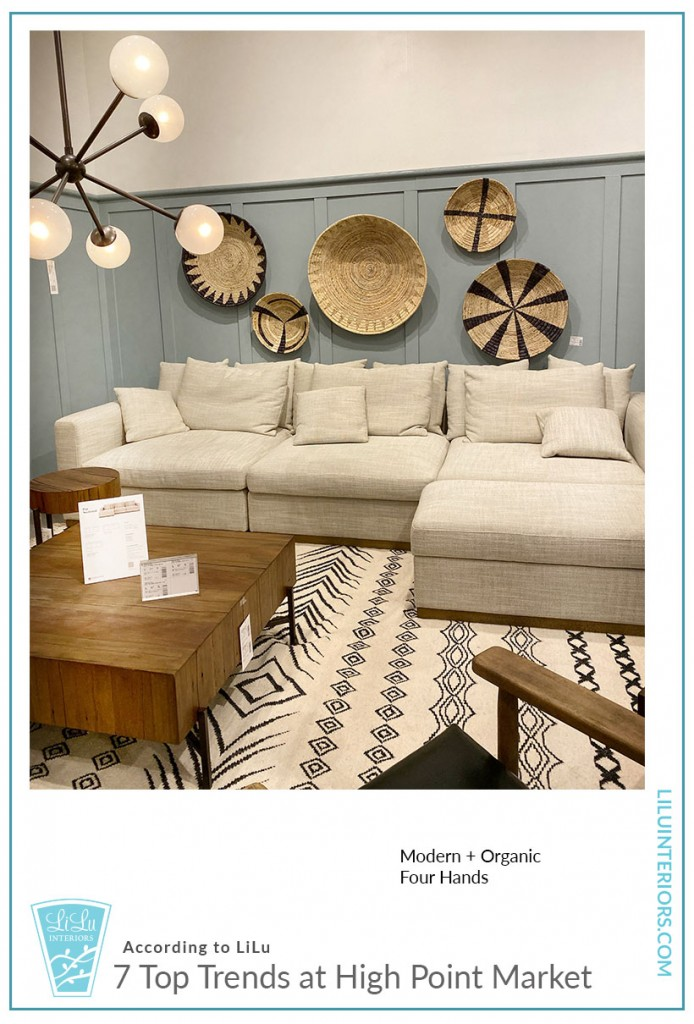 Seven Top Trends at High Point Market-Four Hands #interiordesign #interiordesigntrends #organic #modern