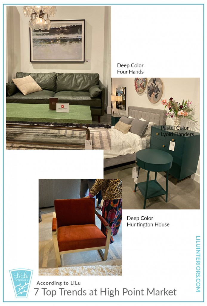 Top Trends at High Point Market- Rich Color #interiordesign #interiordesigner #interiortrends