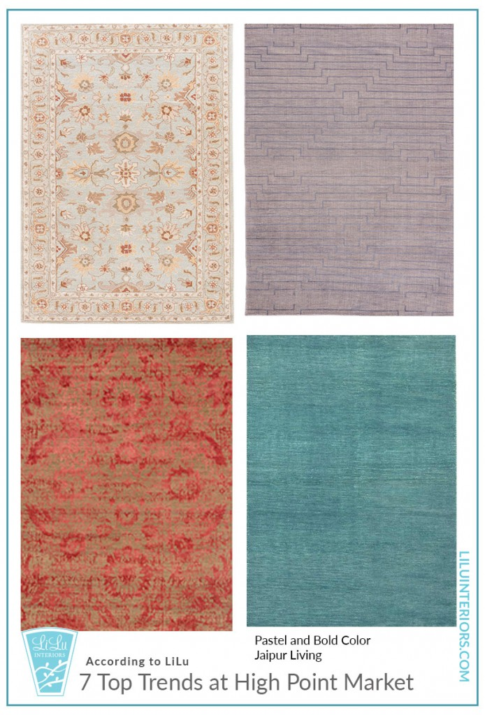 Top Trends at High Point Market- Color in Rugs #interiordesign #interiordesigner #interiortrends