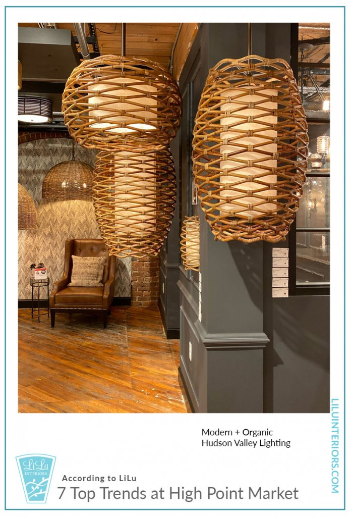 Seven Top Trends at High Point Market-Hudson Valley Lighting #interiordesign #interiordesigntrends #organic #modern