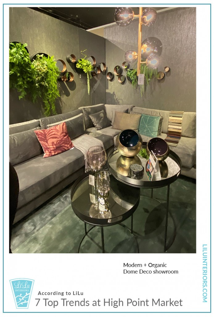 Seven Top Trends at High Point Market-Living Wall #interiordesign #interiordesigntrends #organic #modern