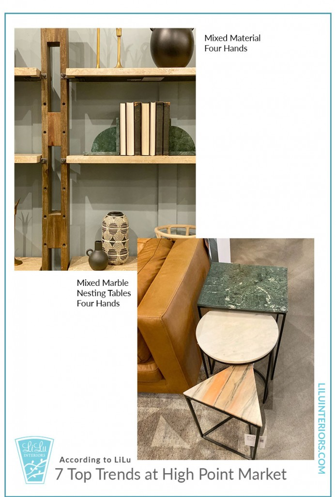 Top Trends of High Point Market-Mixed Materials #interiordesign #interiortrends #furniture #furnituretrends