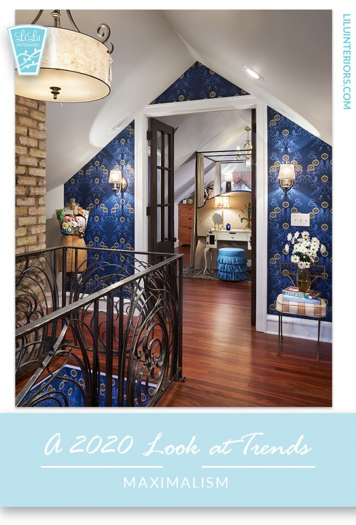 Maximalism as an interior design trend in 2020 along with other trends that will define the decade CLICK TO READ #interiordesign #interiordesigntrends #interiordesignideas #2020 #trends #maximalism #grannychic