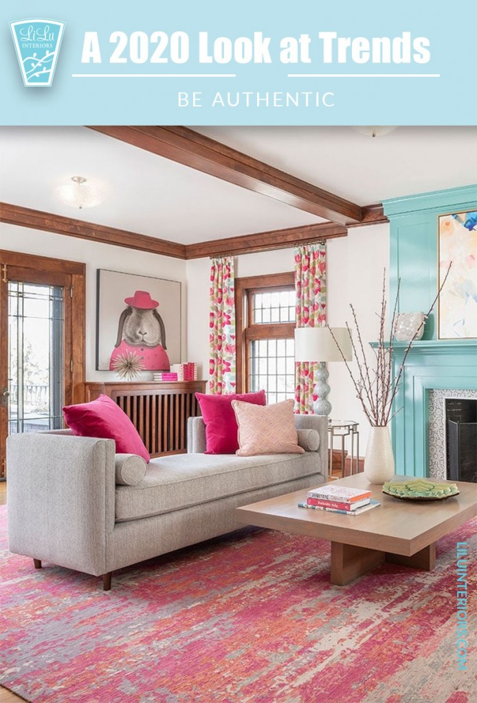 A look at Interior Design Trends for 2020 that will shape the decade CLICK TO READ #interiordesign #interiordesigntrends #2020 #maximalism #authenticliving #eco-friendly #green #biophilic #interiordecorating #homedesign #grannychic