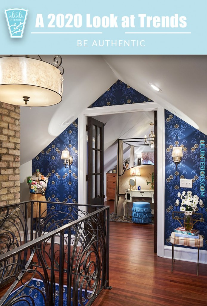 5 top interior design trends for 2020 and beyond. CLICK TO READ #interiordesign #trends #interiordesigntrends #2020 #maximalism #authentic #homedesign #sustainable #eco-friendly #biophilic #grannychic