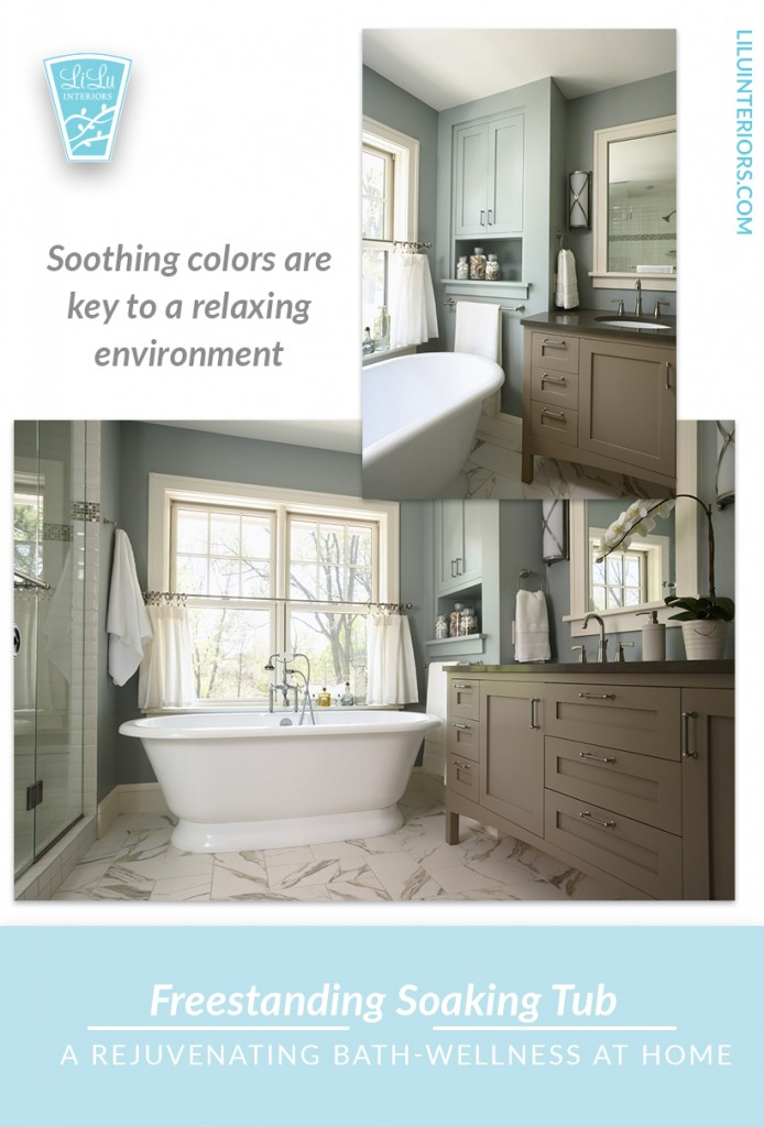 How to create the perfect bathroom and recipes for relaxing baths to create wellness at home. #wellness #bathroom #bathroomdesign #bathrituals