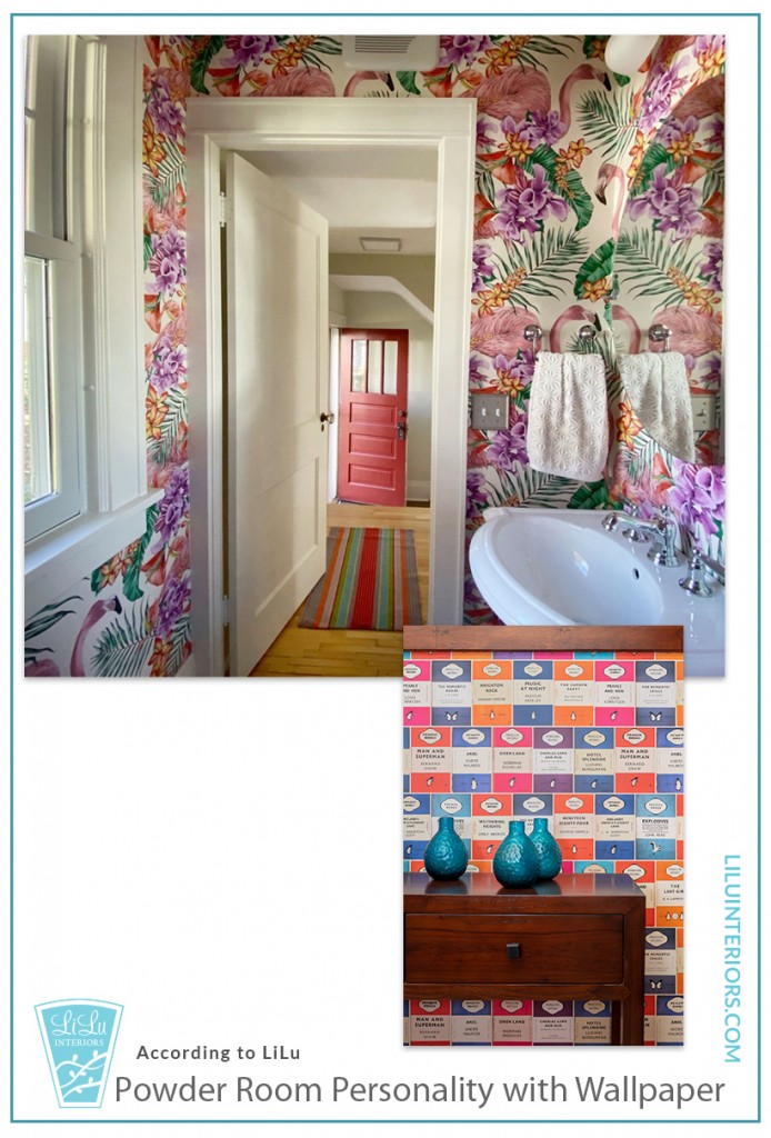 How to overcome your fear of wallpaper and add texture, color, pattern and personality to your home with wallpaper. #interiordesign #wallpaper #interiordesignideas #interiordecorating #homedesign #texture #fabricwallpaper