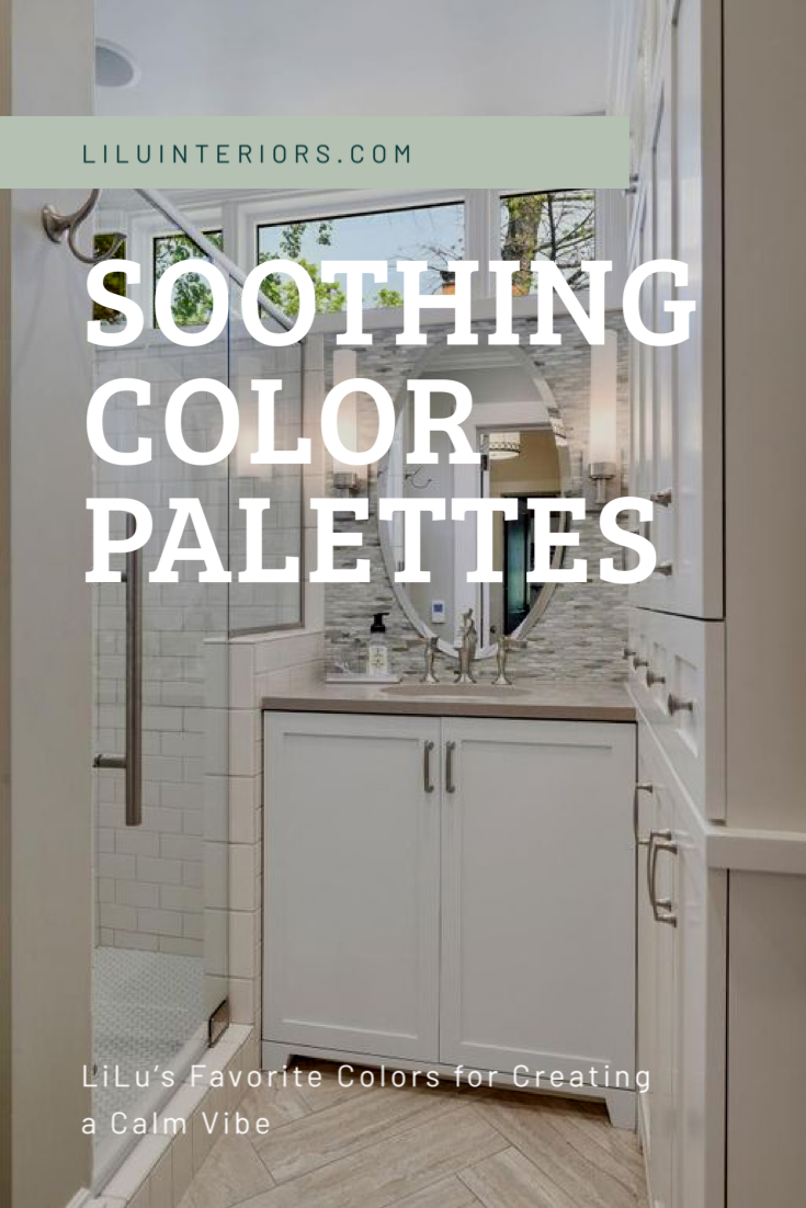 How to create a soothing color palette with inspirational designer rooms and paint color numbers CLICK TO READ MORE #interiordesign #interiordesigner #colorpalette #colorscheme #serene #soothing #interiorcolorschemes #interiorcolorpalette #earthycolor #green #softcolor #serenecolor #calmingcolor