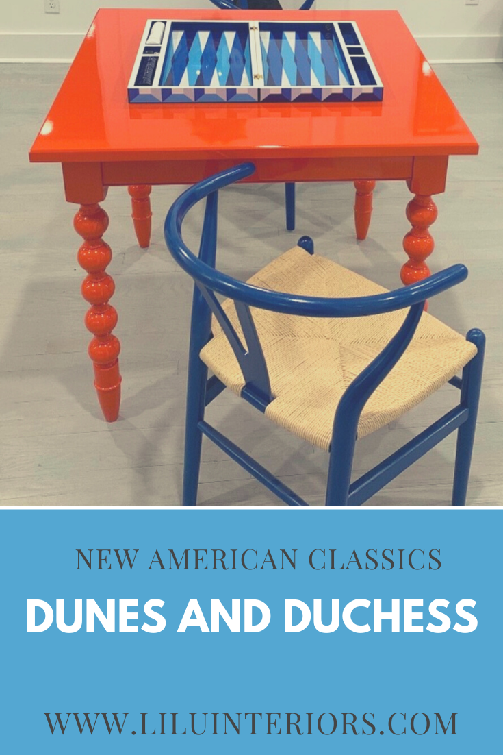 See these inspiring interiors that feature furniture and lighting from Dunes and Duchess. An New American Classic. CLICK TO SEE MORE #americanfurniture #americanmade #interiordesign #lacquer #classicfurniture #interiordecorating #lamps #turnedfurniture #madeintheusa #interiordesignideas #gametable #red #blue