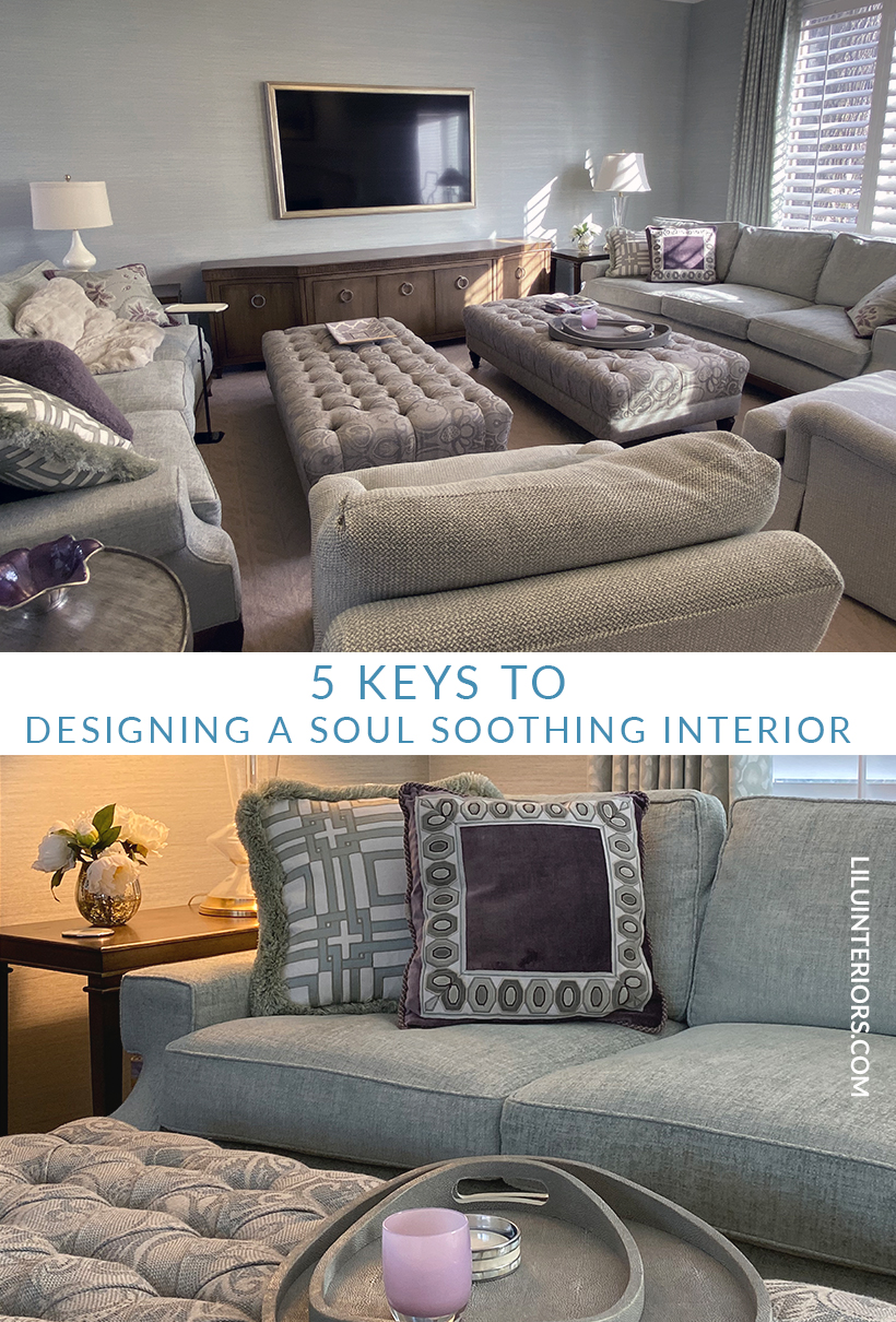 How to create a soul-soothing interior with advice from professional interior designers LiLu Interiors CLICK FOR MORE #interiordesign #soothing #soothingcolors #interiordesignideas #softtextures #interiordecor #mint #bluegreen #cozyhome